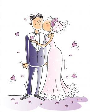 Wedding People - Wedding Cartoon Comics Clip Art PNG