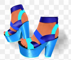Blue Tone - Electric Blue Turquoise Cobalt Blue Teal Footwear PNG