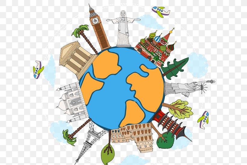World Royalty Free Cartoon Illustration Png 640x546px World