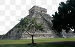 Ancient Mayan Civilization Construction - Yucatxe1n Peninsula Maya Civilization Mesoamerican Pyramids Wallpaper PNG