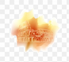 Vector Drawing Colosseum - Colosseum Euclidean Vector PNG