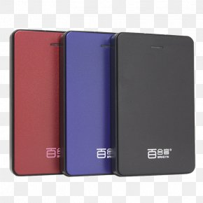 Three-color Mobile Hard Disk - Hard Disk Drive Portable Storage Device PNG
