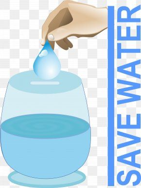 Save Water Cliparts - Water Efficiency Water Conservation Clip Art PNG