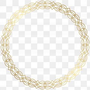 Round Gold Border Transparent Clip Art Image - Circle Gold Clip Art PNG