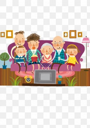 A Person Watching TV - Family Reunion Clip Art PNG