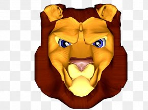 Cute Cartoon Lion Head Material Downloaded - Lionhead Rabbit Lions Head Cartoon PNG