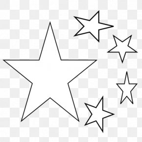 Five Star Cliparts - Drawing Coloring Book Black And White Clip Art PNG