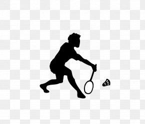 Badminton Silhouettes - Badminton Shuttlecock Sport Clip Art PNG