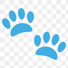 Paw - Emoji Paw Emoticon Text Messaging SMS PNG