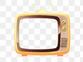 Screen Television Set - Yellow Television Media Television Set Screen PNG
