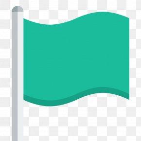 Flag - Angle Aqua Green PNG