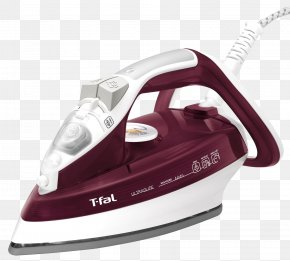 Iron - Clothes Iron Tefal Ironing Non-stick Surface Steam PNG