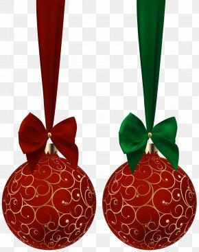 Christmas Balls Red Set Clip Art Image - Clip Art PNG