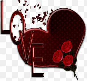 Love Text - Love Heart Painting Valentine's Day PNG