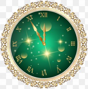 New Year Clock - New Year's Eve New Year's Day Christmas Clip Art PNG