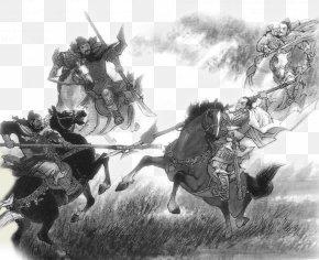 Yue Fei Battlefield Hand Painted Chinese Style - Records Of The Three Kingdoms Workshop No Ta U697du5929u30d6u30edu30b0 PNG