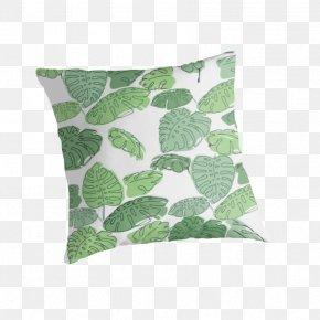 Green Palm Leaves - Throw Pillows Cushion Leaf PNG