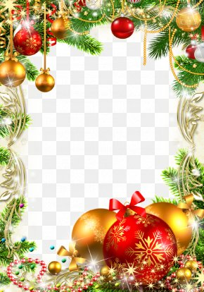 Christmas Decoration - Christmas Picture Frame Clip Art PNG