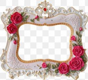 Side Border - Wedding Invitation Picture Frames Valentine's Day Rose Clip Art PNG