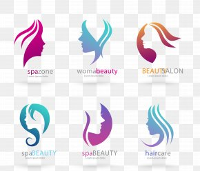 Vector Head Of A Woman Of Beauty Salons Flag - Beauty Parlour Logo Cosmetics PNG