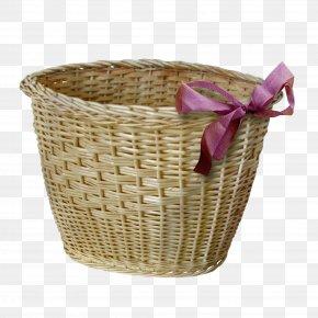 Purple Bow Panniers - Picnic Basket Wicker Hamper Easter Basket PNG
