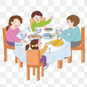Cartoon Banquet - Dinner Breakfast Eating PNG