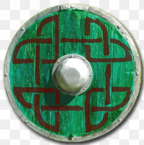 Round Shield - Round Shield Celtic Knot Green Wood PNG