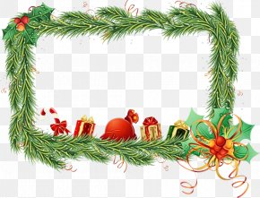 Holly Picture Frame - Christmas Picture Frame PNG
