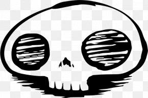 Black Skull Face Expression - Skull Facial Expression Clip Art PNG