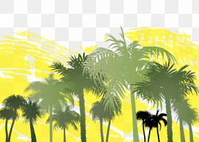 Graffiti Vector Palm Forest - Arecaceae Tree Palm Branch Clip Art PNG