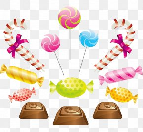 Candy And Chocolate - Ice Cream Chocolate Bar Candy Cane Lollipop PNG