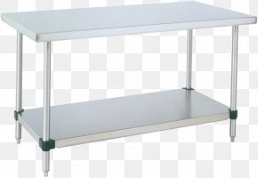 Store Shelf - Sewing Table Shelf Stainless Steel Bench PNG