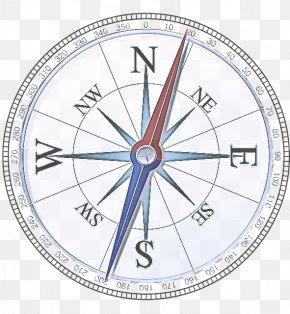 Wall Clock Diagram - Compass Line Clock Circle Number PNG