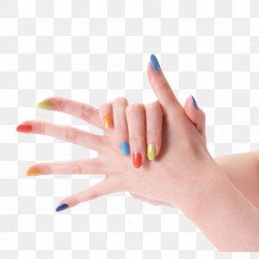 Nail On Fingers - Nail Polish High-definition Television Nail Art Wallpaper PNG