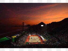 Sunset - Rio De Janeiro 2016 Summer Olympics Olympic Games Beach Volleyball Arena Copacabana Stadium PNG