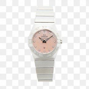 Omega Constellation Series Diamond Scale Quartz Female Form - Watch Strap Watch Strap Metal PNG