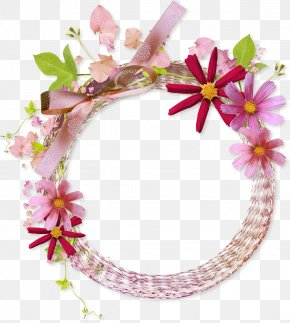 Floral Round Frame Clipart - Picture Frame Flower PNG