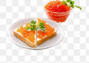 Toast - Red Caviar Seafood Roe Pancake PNG