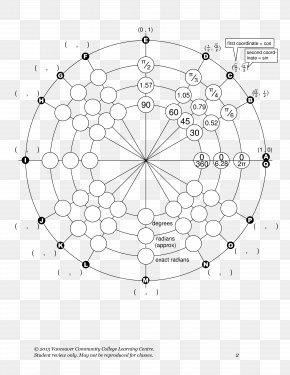 Circle - Unit Circle Angle Point Chart PNG