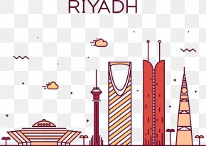 Vector Construction Riyadh - Riyadh Skyline Drawing Stock Illustration PNG