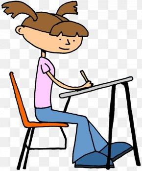 Children Writing Clipart - Student Doing School Desk Teacher Clip Art PNG