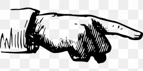 Drawing Hand - Index Finger Middle Finger Clip Art PNG