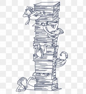 A Pile Of Books - Book Stack PNG