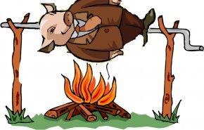 Hog Cliparts - Pig Roast Domestic Pig Barbecue Grill Siu Yuk Roasting PNG