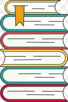 A Stack Of Books - Book Clip Art PNG