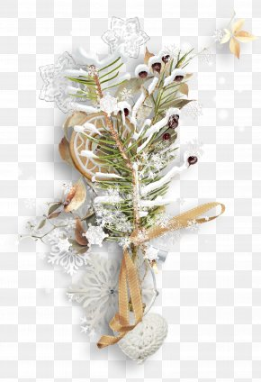 Snowflake Christmas Tree Branches Biscuits - Christmas Ornament Christmas Tree Branch PNG