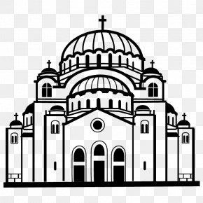 Church - Church Black And White Clip Art PNG