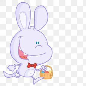Cartoon Rabbit Basket - Easter Bunny Royalty-free Clip Art PNG