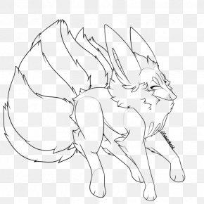 Pregnancy Star Fox - Line Art Hare Drawing Cartoon Rabbit PNG