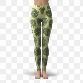 Monstera - Leggings Stained Glass Pants PNG